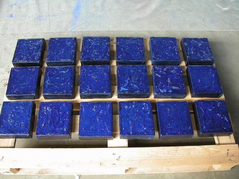 Kästchen blau 2005, 18x16 cm