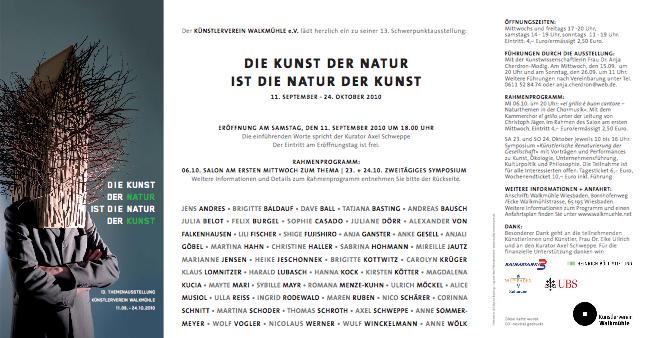 Einladung Kunst der Natur