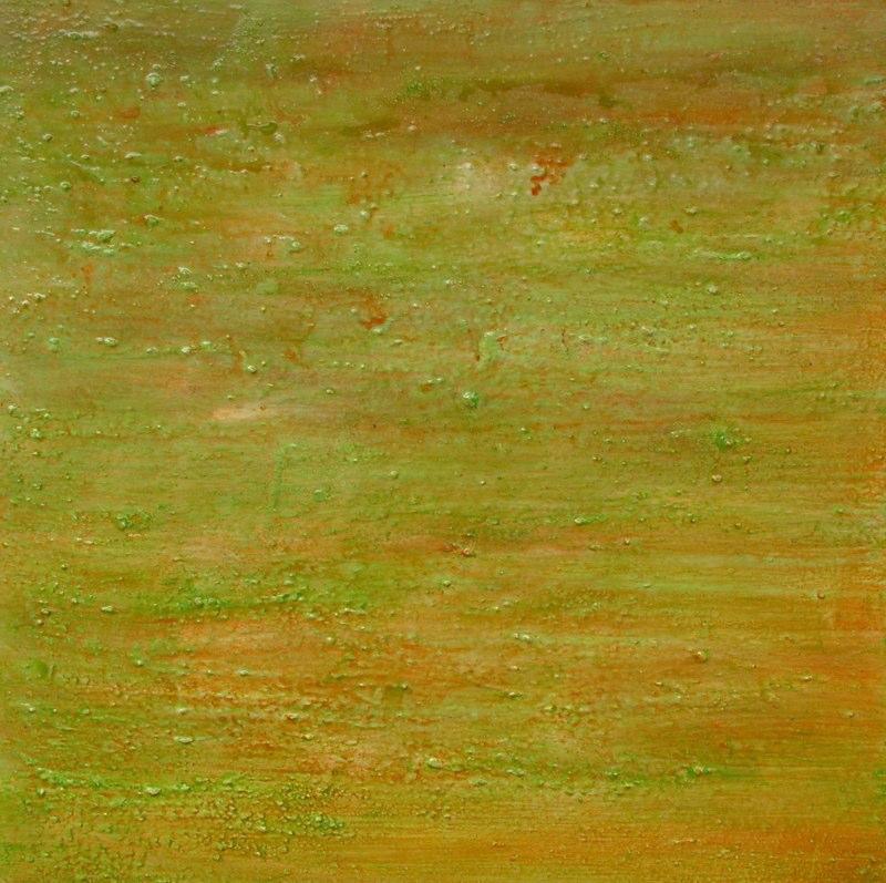 grünorange 2004, 100x100 cm
