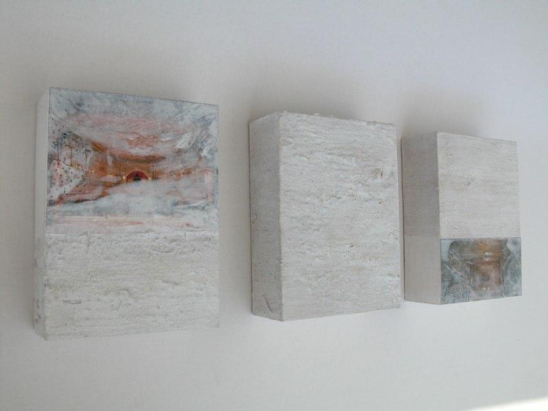 Trio weiß1_2004, je 20x15x6 cm