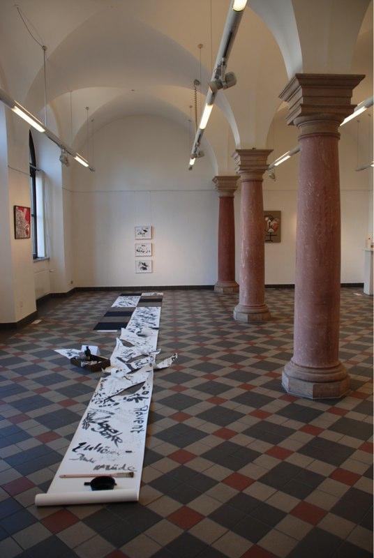 """""""wegedanken""""2013 mit Einbeziehung der Besucher im Rathaus Wiesbaden"""
